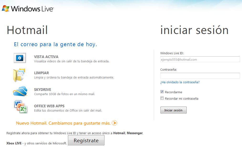 Hotmail iniciar sesión
