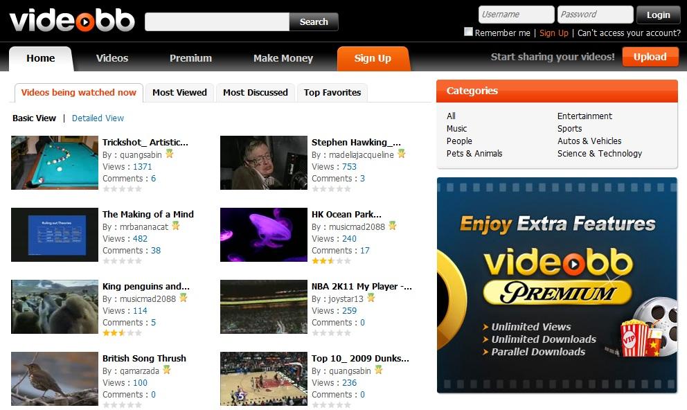 VIDEOBB VIDEOBB, ganar dinero con videos