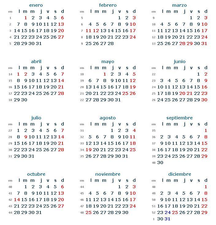 Si necesitas un calendario 2013 para imprimir de los feriantes de ...