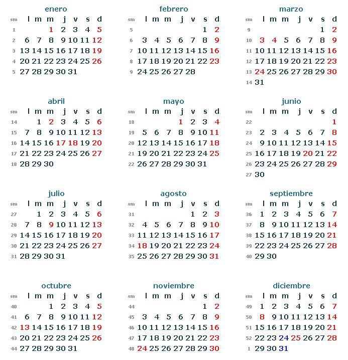 Si necesitas un calendario 2014 para imprimir de los feriantes de ...