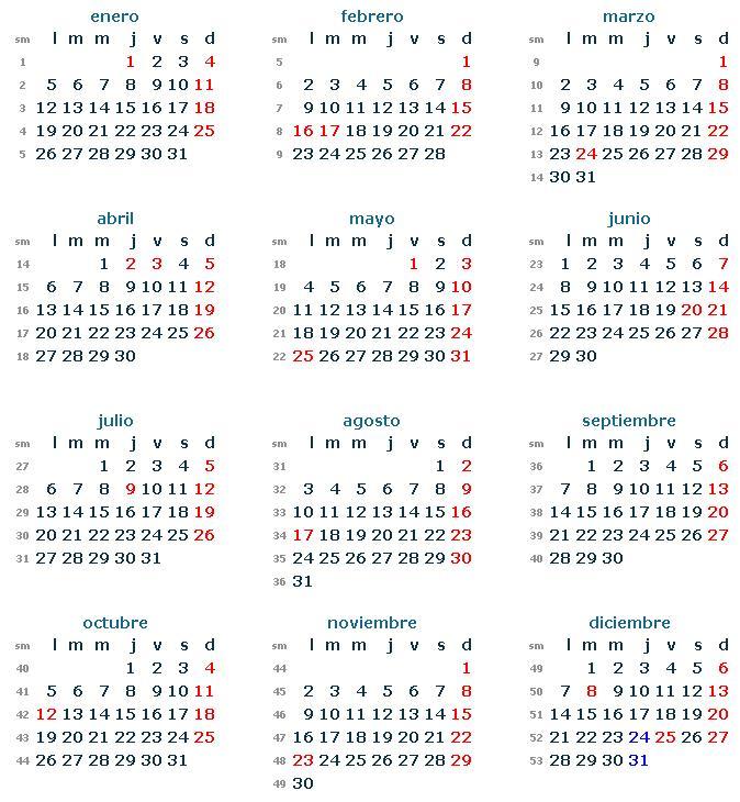 Si necesitas un calendario 2015 para imprimir de los feriantes de ...