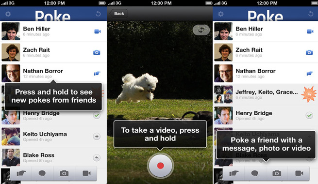 how to see facebook pokes in app