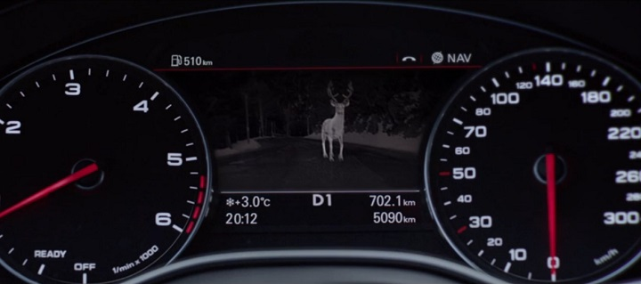Audi night vision assistant