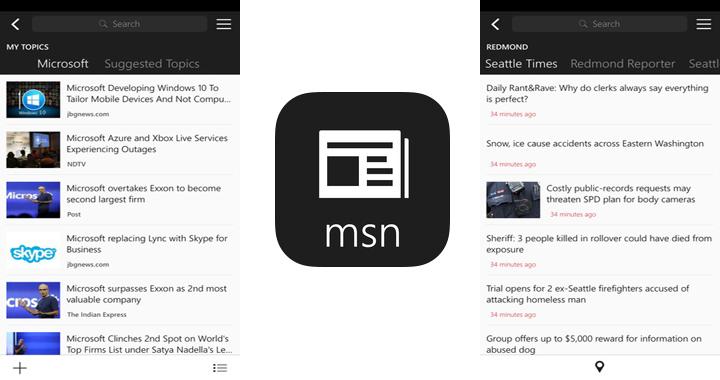MSN app