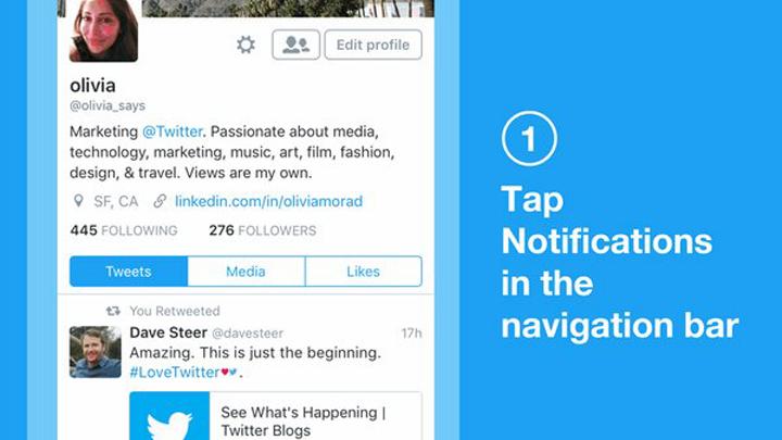 twitter notificaciones